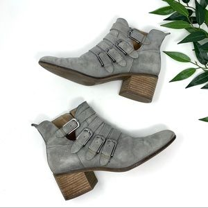 Lucky Brand Shoes - Lucky Brand Loreniah Suede Buckle Ankle Boot 8